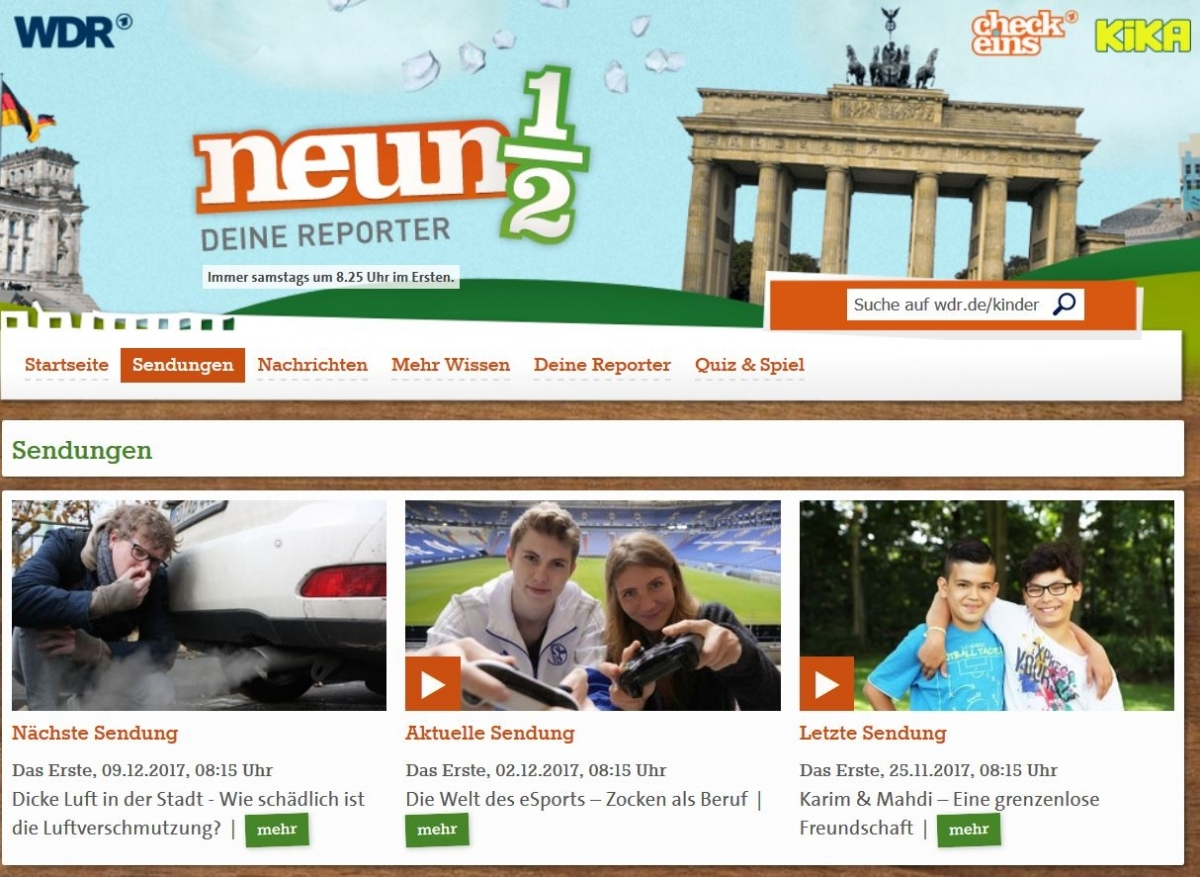Screenshot https://www1.wdr.de/kinder/tv/neuneinhalb/sendungen/index.html