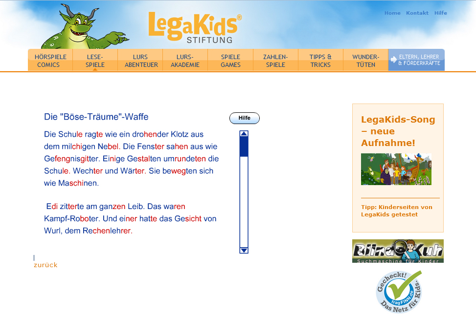 Screenshot LegaKids