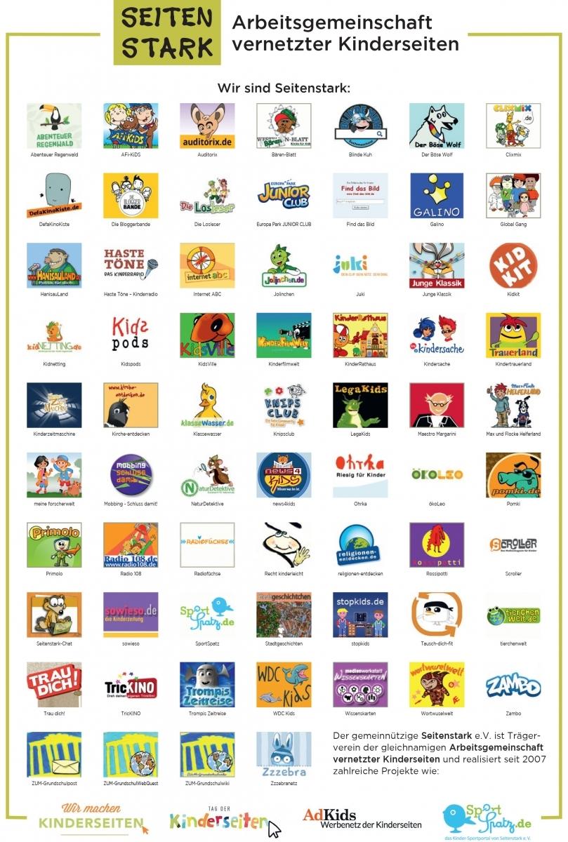 Logos der Kinderseiten von Seitenstark