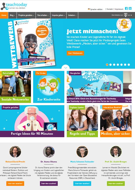 Screenshot www.teachtoday.de