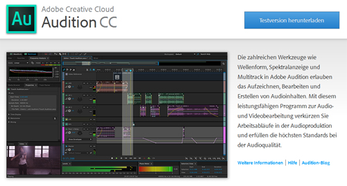 Screenshot Adobe Audition