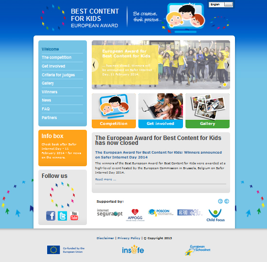 Screenshot www.bestcontentaward.eu