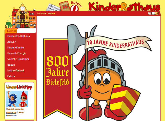Screenshot kinderrathaus.de