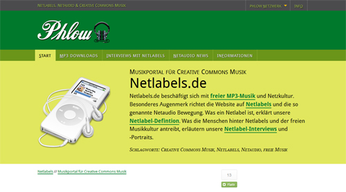 Screenshot Netlabels.de