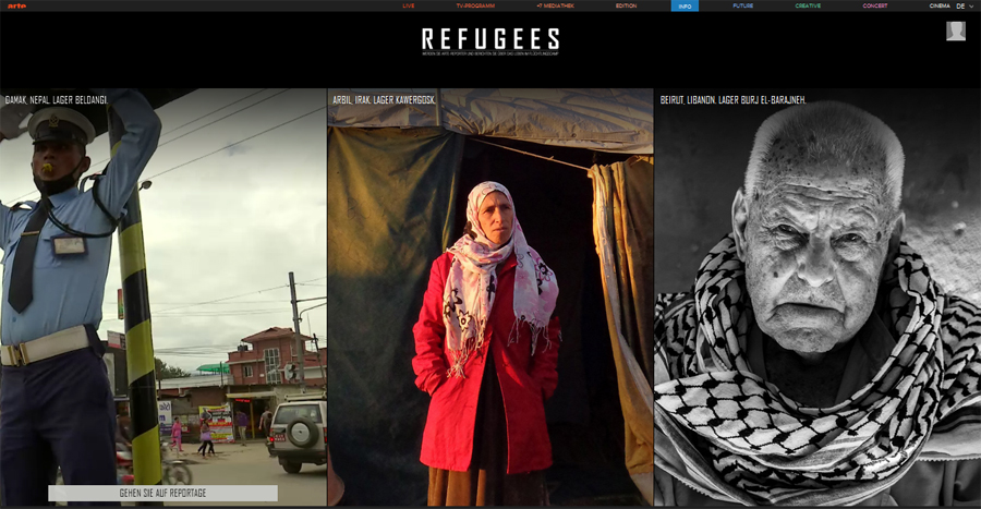 Screenshot refugees.arte.tv/de/missions