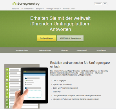 Screenshot Surveymonkey