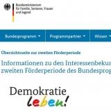 Screenhsot www.demokratie-leben.de