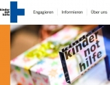 Screenshot www.kindernothilfe.de