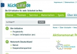 Screenshot www.klicksafe.de