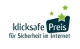 Logo klicksafe-Preis für Sicherheit im Internet