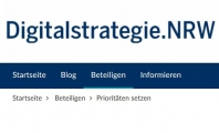 Screenshot www.digitalstrategie.nrw