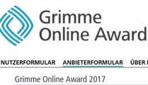 Screenshot http://www.grimme-online-award.de
