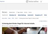 Screenshot www.heise.de