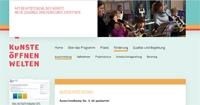 Screenshot www.kuenste-oeffnen-welten.de