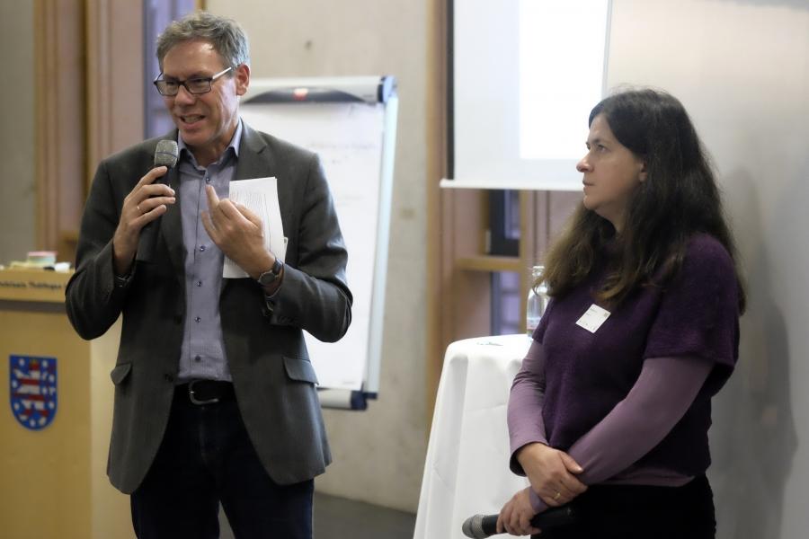 Vorstellung der Ergebnisse aus WS 1 durch Gerd Seiler und Annette Kaut; (c) Birgit Brockerhoff