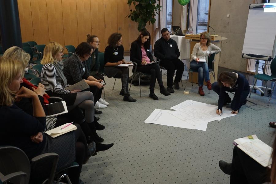 WS 4: Kinderrechte, Kinderkultur und Demokratiebildung ; (c) Foto: Birgit Brockerhoff