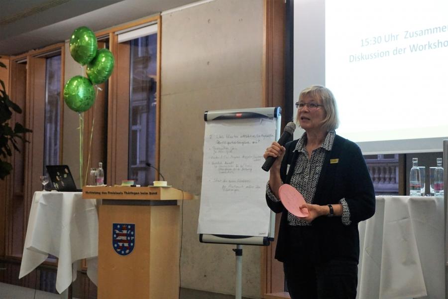 Vorstellung der Ergebnisse aus WS 2 durch Kristne Kretschmer; (c) Birgit Brockerhoff