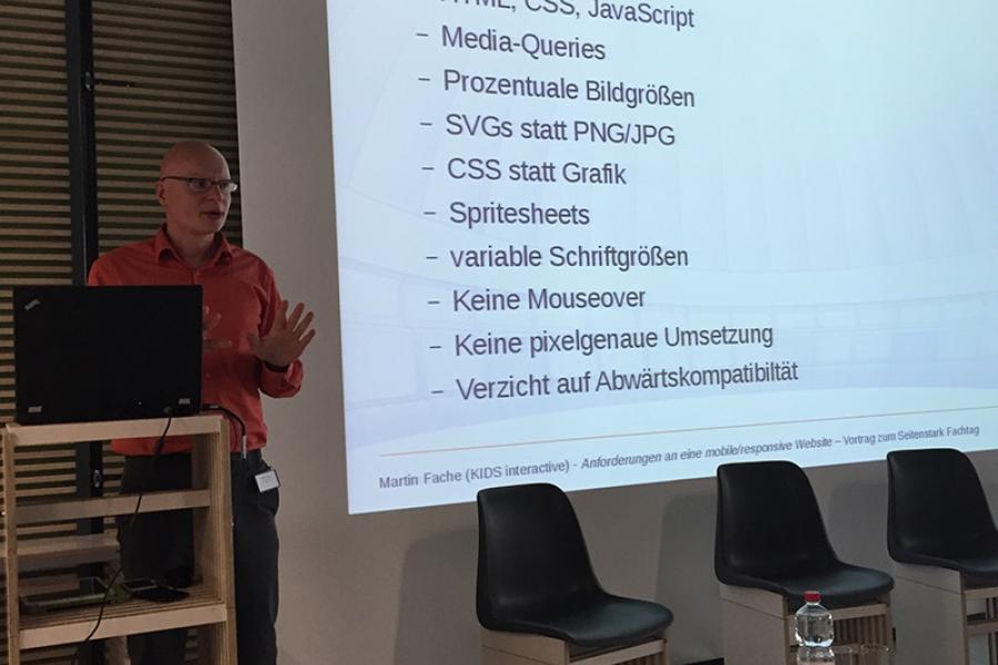 Vortrag: Anforderungen an eine mobile/responsive Website  Martin Fache, KIDS interactive GmbH, Kindermedienzentrum Erfurt