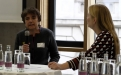 Cahterine Raoult von den Bösen Wölfen im Talk mit Katharina Gerlach; (c) Foto: Michael Schnell
