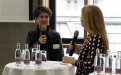 Christinae Baer-Krause von religionen-entdecken.de im Talk mit Katharina Gerlach; (c) Foto: Michael Schnell