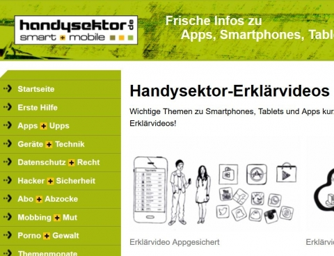 Screenshot www.handysektor.de