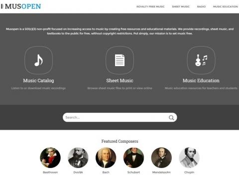 Screenshot https://musopen.org/