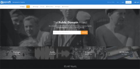 Screenshot www.pond5.com/free