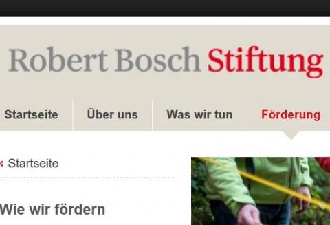 Screenshot www.bosch-stiftung.de