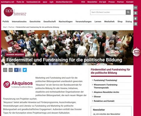 Screenshot https://www.bpb.de/akquisos