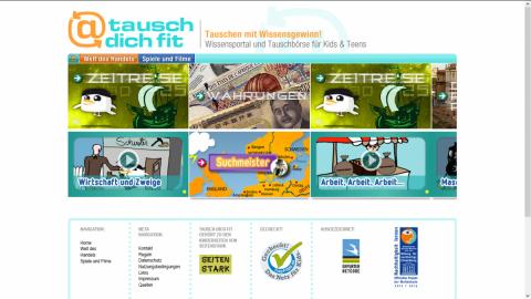 Alter Screenshot tausch-dich-fit.de